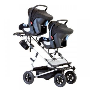 Mountain Buggy Duet with infant car seats