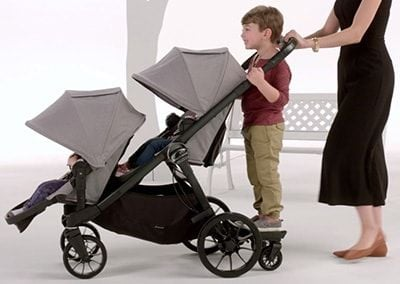 Baby Jogger City Select LUX 2017 stroller for three kids