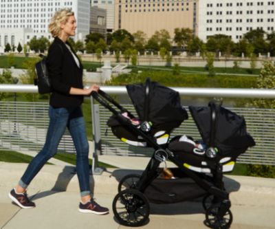 Baby Jogger City Select LUX 2017 stroller with infant car seats