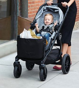 Baby Jogger City Select LUX 2017 stroller with tote bag